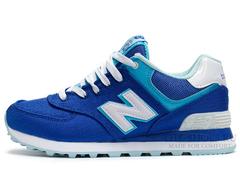 Кроссовки Женские New Balance 574 Blue White