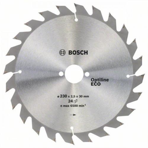 Диск по дереву Bosch 230х2,5х30 мм Optiline ECO Z24