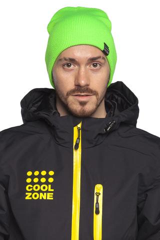 COOL ZONE горнолыжная шапка лайм