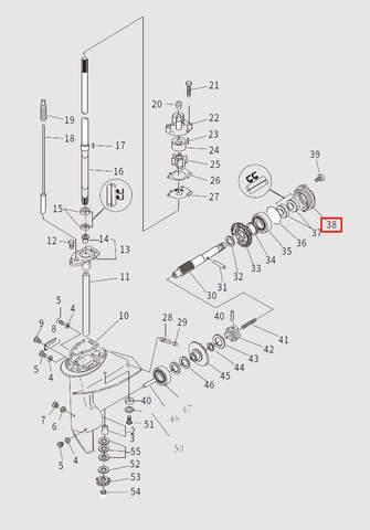 Стакан редуктора для лодочного мотора T9.8 Sea-PRO (13-38)