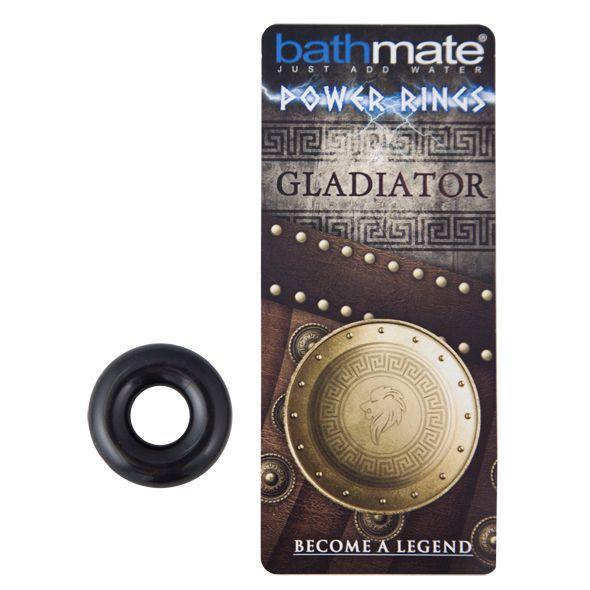 Эрекционные кольца: Чёрное эрекционное кольцо Gladiator