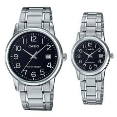 Парные часы Casio Standard: MTP-V002D-1B и LTP-V002D-1B