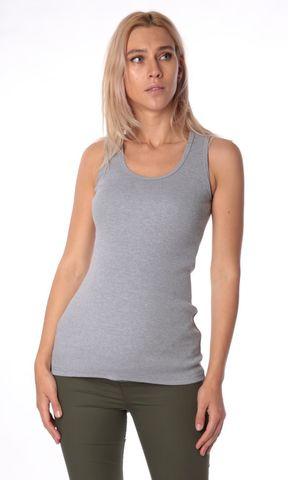 Евромама. Майка для беременных со вставкой из сетки ем 8105, серый размер 50