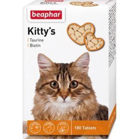 12578 Беафар Витамин Китти Таурин/биотин д/кошек 180таб.*12*60