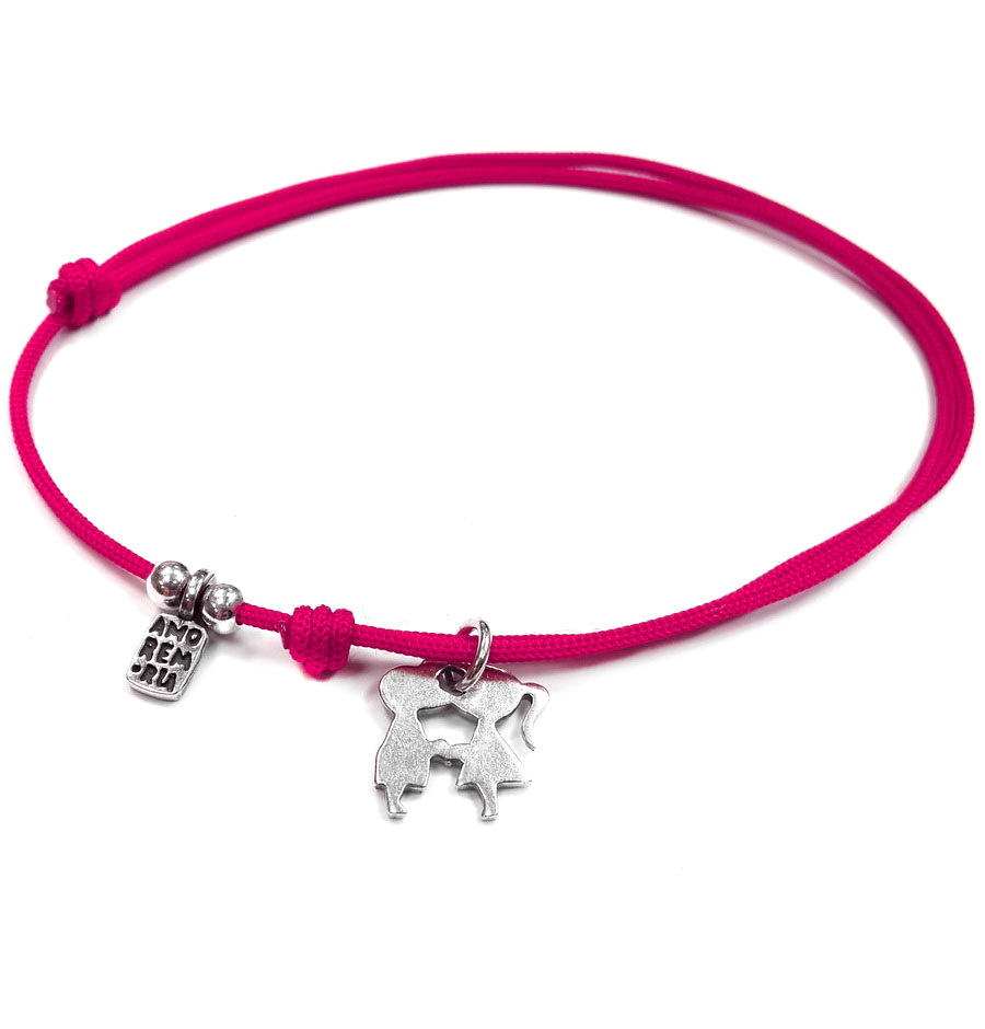 Sweet Kiss bracelet, sterling silver