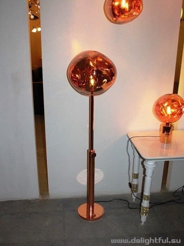 replica Tom Dixon Melt floor  lamp  ( gold )