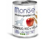 Monge Dog Monoproteico Fruits Консервы для собак из кролика с рисом и яблоками 24х400 г. (паштет) (70014328)