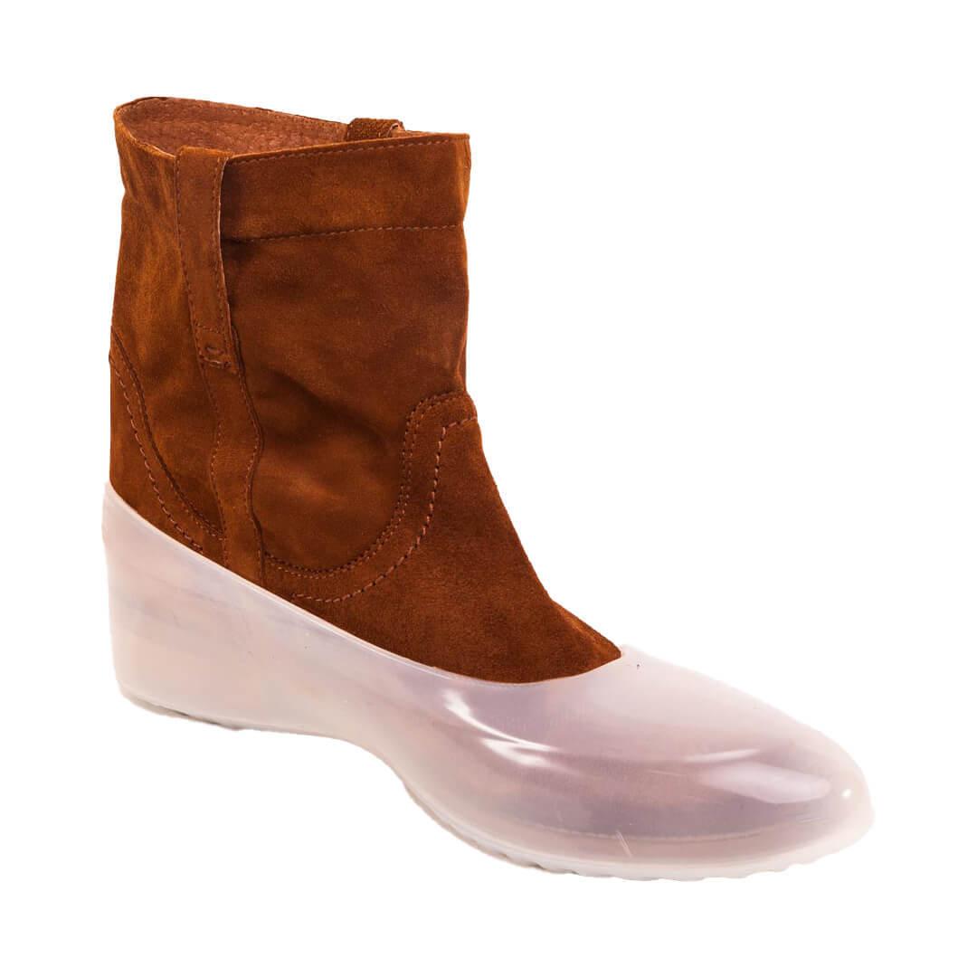 Галоши для обуви без каблука прозрачные
