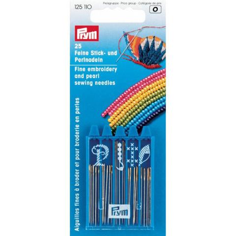 Набор игл для бисера и вышивания PRYM 125110