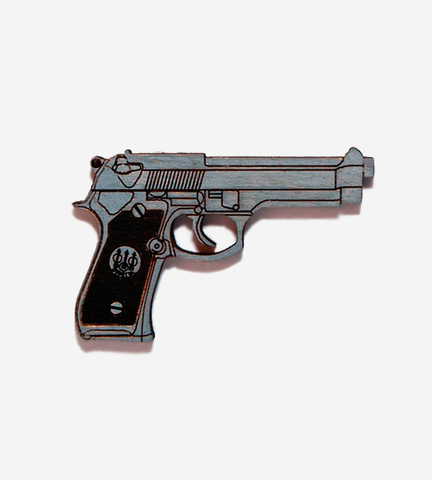 Брошь Пистолет
