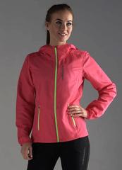 Беговая куртка с капюшоном Nordski Run Pink-Yellow женская