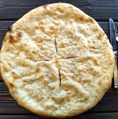 Хачапури постный с картофелем и грибами, 40 см / 720 г
