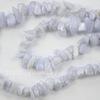 Бусина Агат Голубой, крошка, 3-9 мм, нить 84-86 см