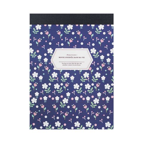Блокнот Hand Drawn Flowers Navy