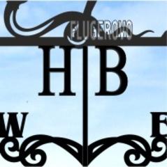 Буквы-инициалы для флюгера
