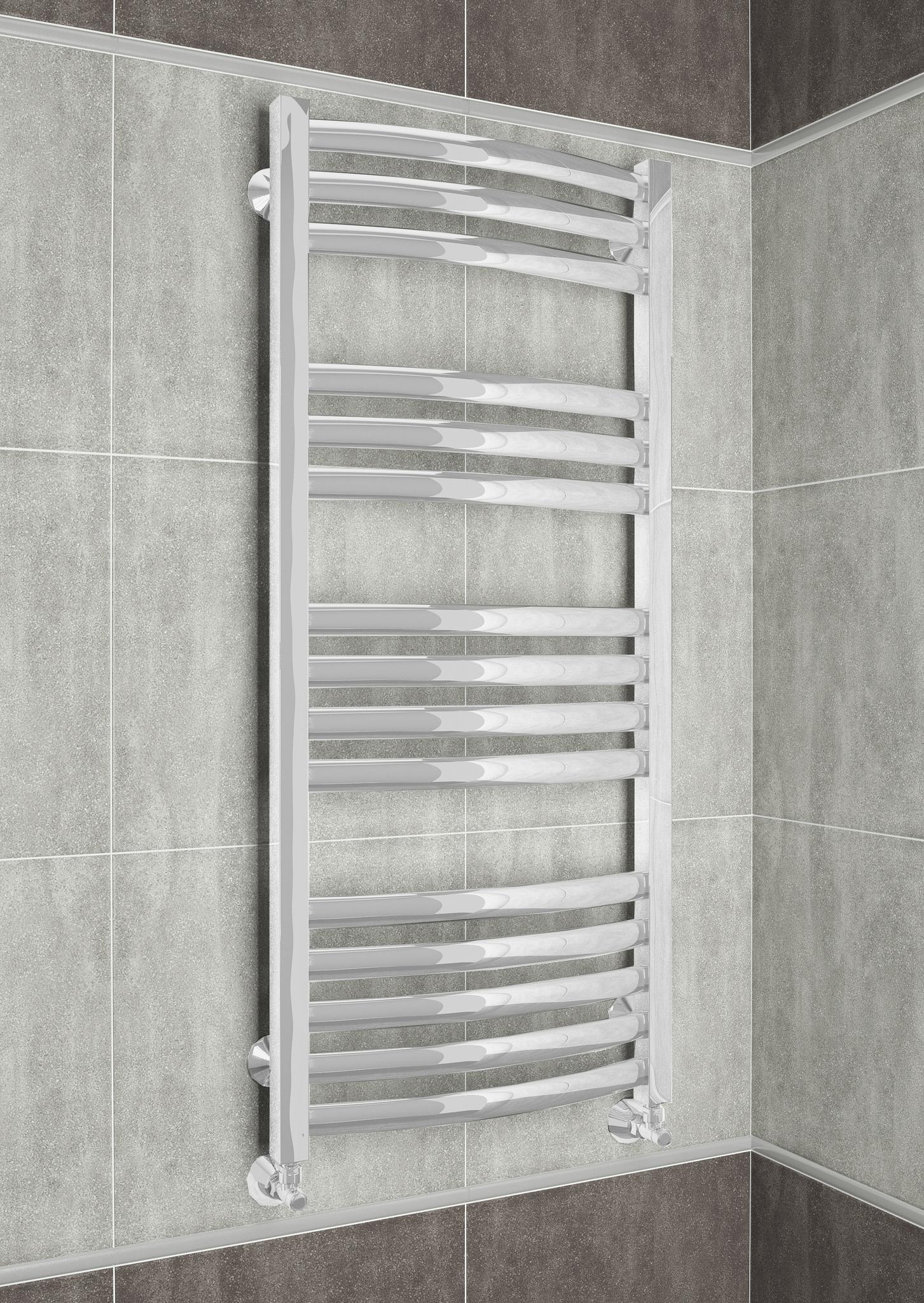 Palermo  - водяной дизайн полотенцесушитель белого цвета.