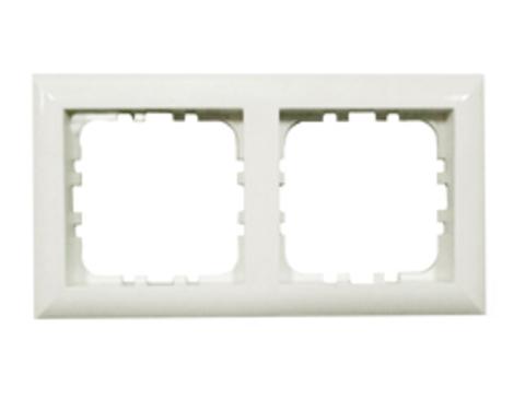 Рамка на 2 поста. Цвет Белый. LK Studio LK60 (ЛК Студио ЛК60). 864204
