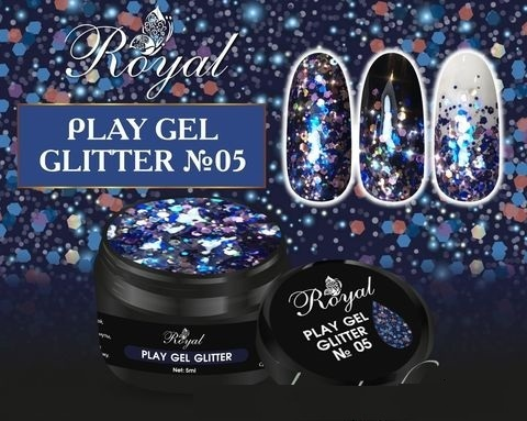 05 Gel PLAY GLITTER Royal 5мл. Артикул: 177-005