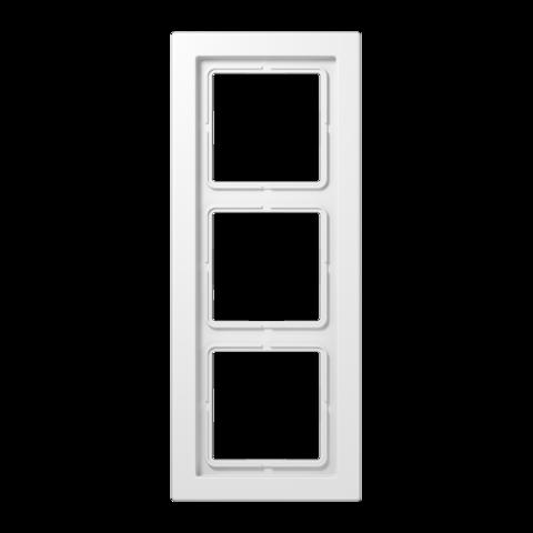 Рамка на 3 поста. Цвет Белый. JUNG LS - ДИЗАЙН. LSD983WW