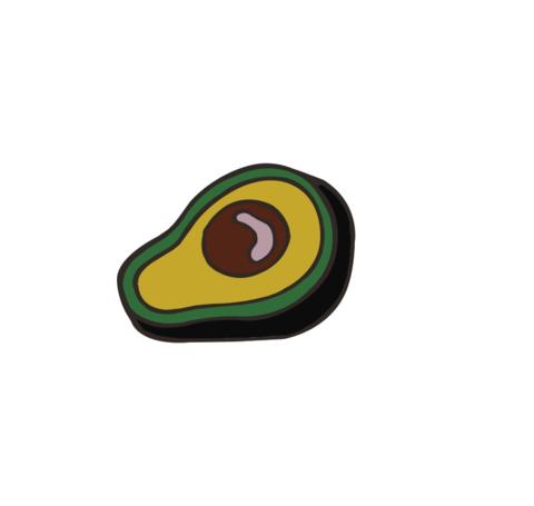 Значок, пін - Авокадо