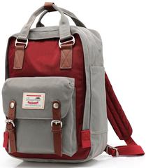 Рюкзак Nikki Macaroon Серый + Бордовый