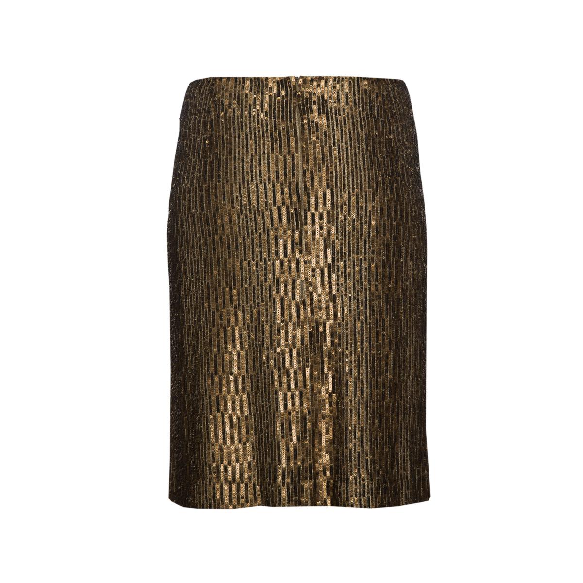 Красивая юбка из пайеток золотистого цвета от Chanel, 42 размер.
