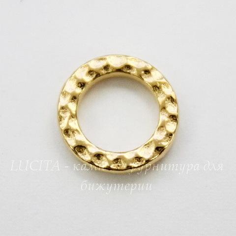 """Коннектор - кольцо TierraCast """"Hammertone"""" 9 мм (цвет-золото) ()"""