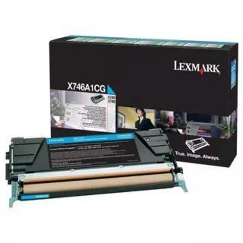 Картридж для принтеров Lexmark X748/X746 голубой (cyan). Ресурс 12000 стр (X746A1CG)