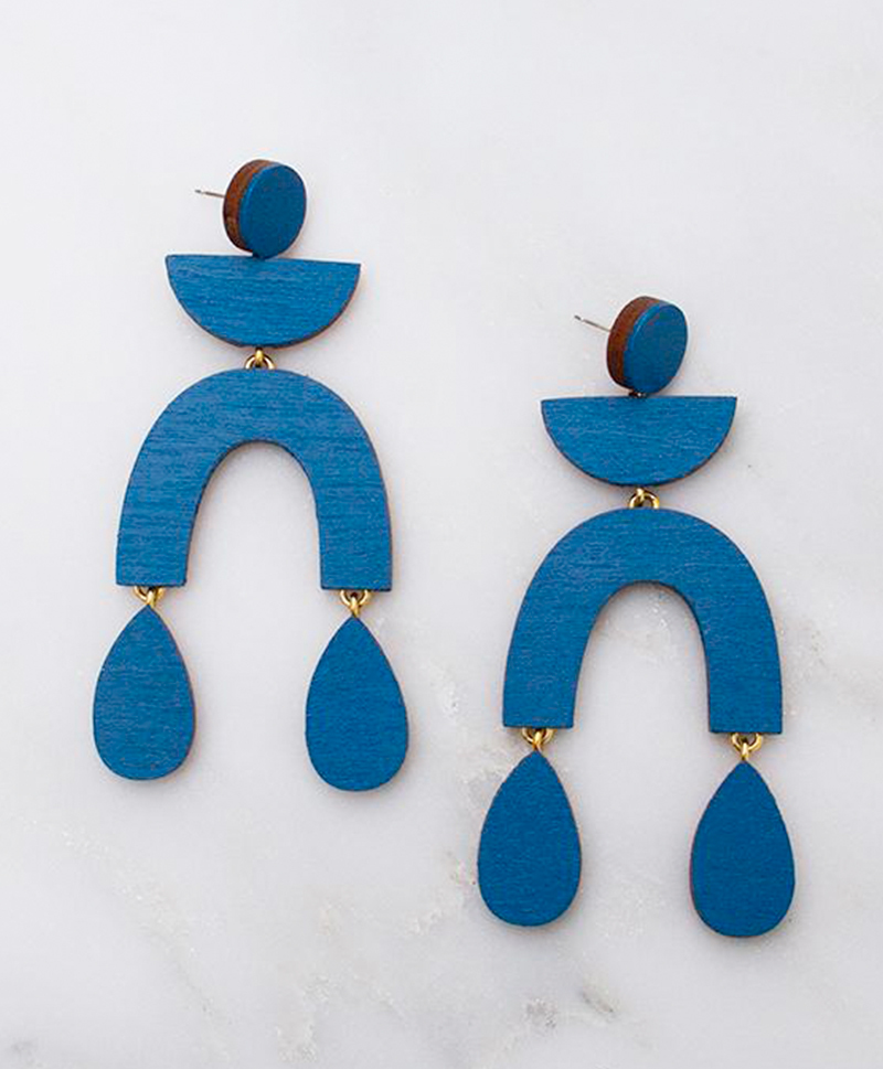 Серьги Corbero Earrings Cobalt Blue