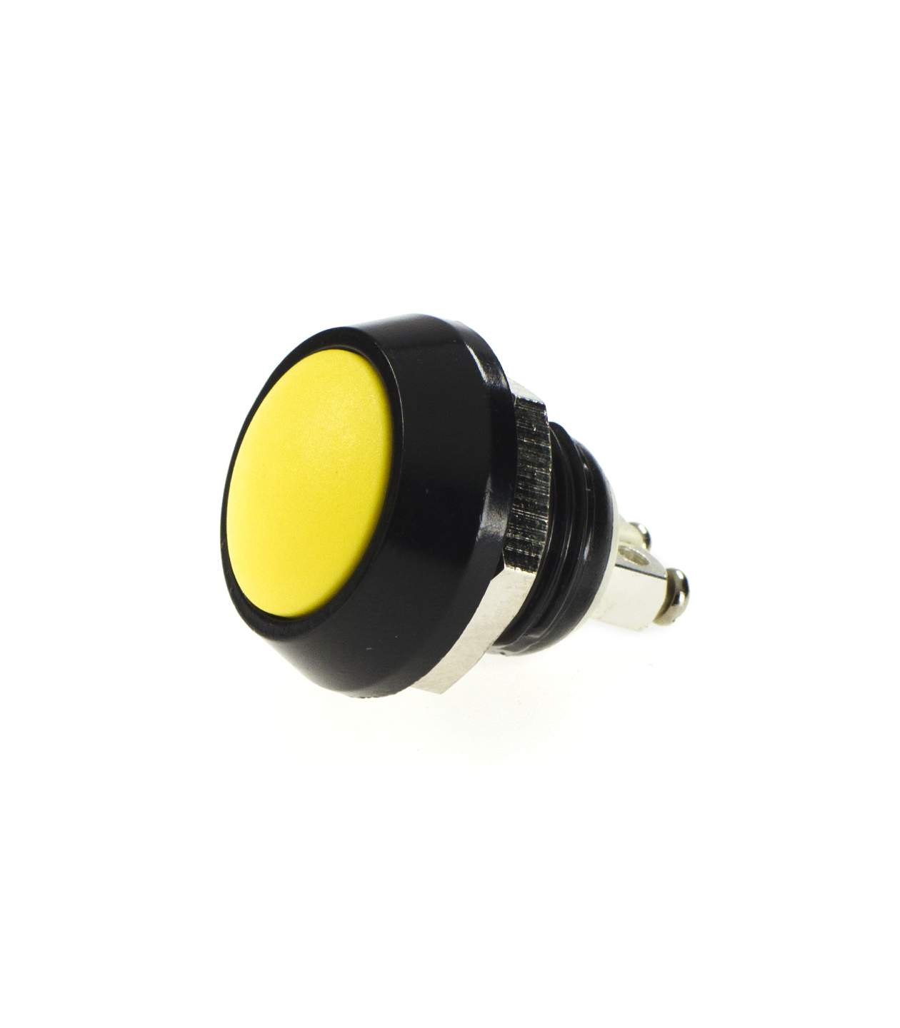 SWITCH PUSH 2A 48V YELLOW