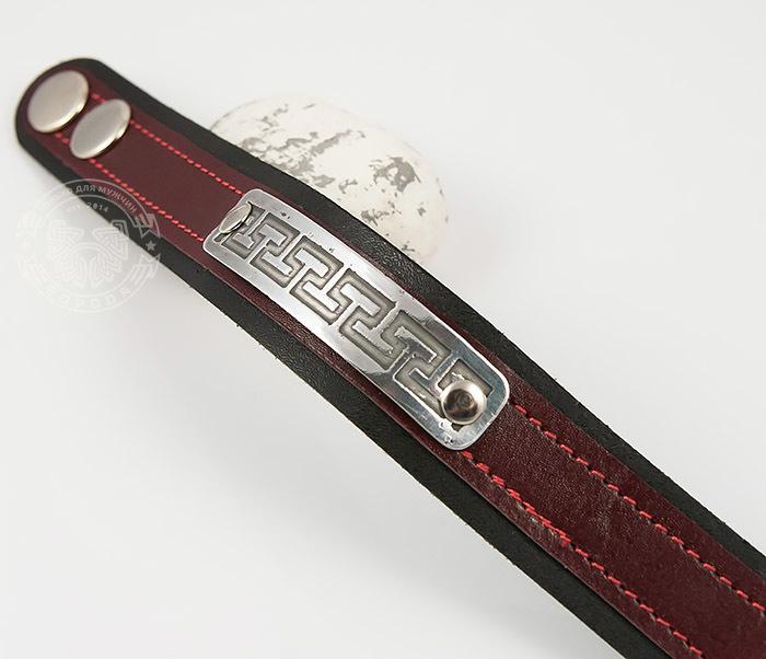 Boroda Design, Оригинальный мужской браслет бордового цвета, ручная работа цены онлайн