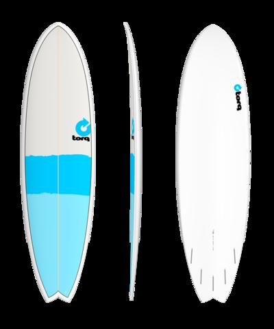 Серфборд TORQ 7'2'' Fish - New Classic (blue/blue/grey)
