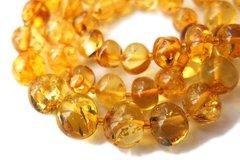 бусы из жёлтого прозрачного янтаря