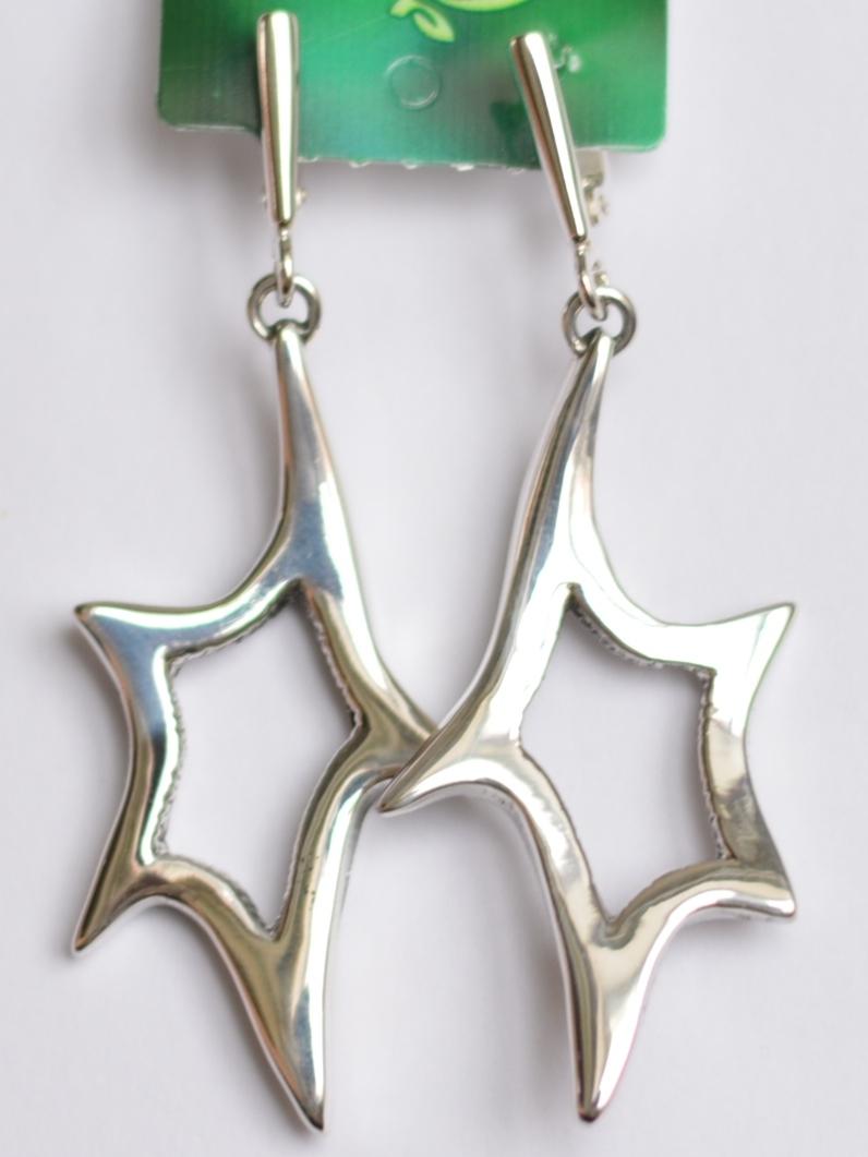 Звездочки (серьги из серебра)