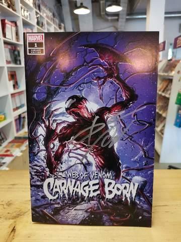 Web of Venom. Carnage Born #1 Variant Cover A (c автографом Donny Cates)