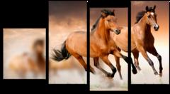 """Модульная картина """"Бегущие лошади"""""""