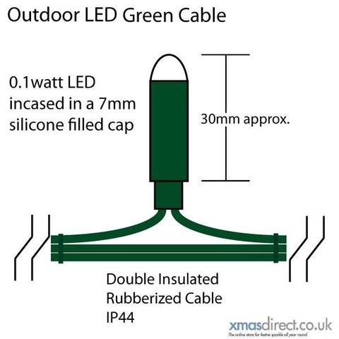 LED гирлянды бахрома  5 метров на 0,7 м пвх провод белый цвет