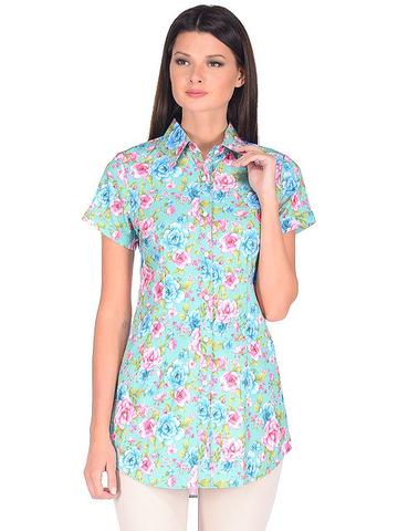WP6505F-2 блузка женская, зеленая