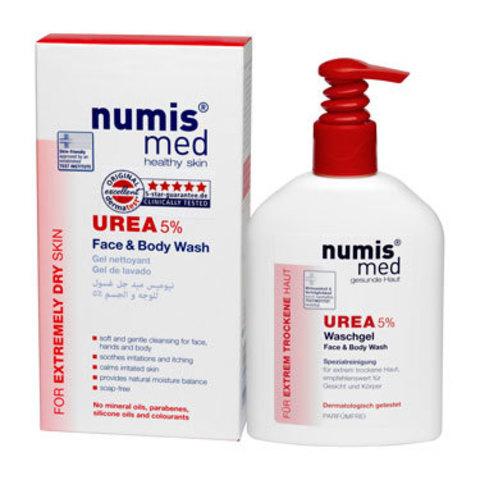 Моющее средство для лица и тела с 5 % мочевиной Numis Med, 200 мл