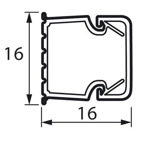 Мини-канал 16x16 - 2 метра - с крышкой. Цвет Белый. Legrand Metra (Легранд Метра). 638191