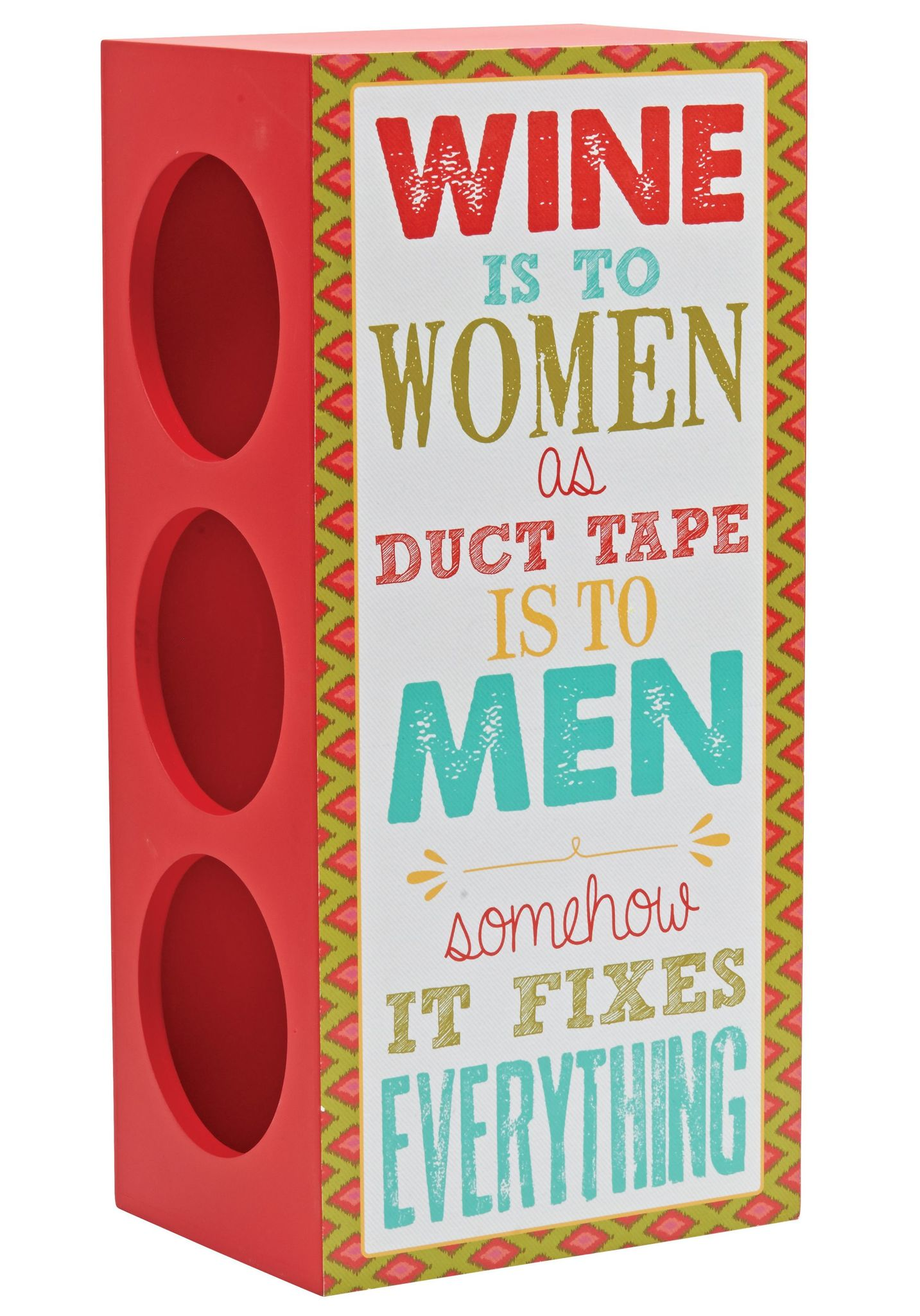 Держатель для бутылок Boston Warehouse Red Wine Woman