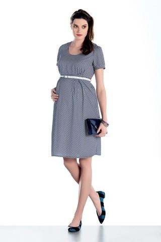 Платье для беременных 07578 синий-белый