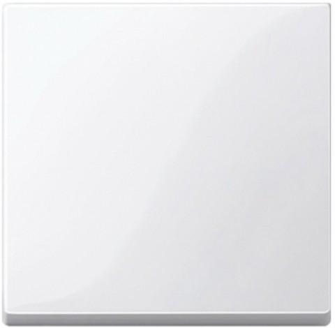 Выключатель одноклавишный проходной. Цвет Полярно-белый, блестящий. Merten. MTN3116-0000+MTN432119