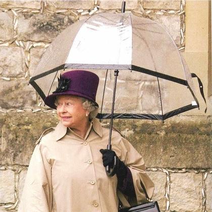 Fulton прозрачный зонт-трость (черный кант)