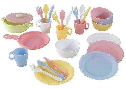 KidKraft Пастель Pastel - набор посуды 63027