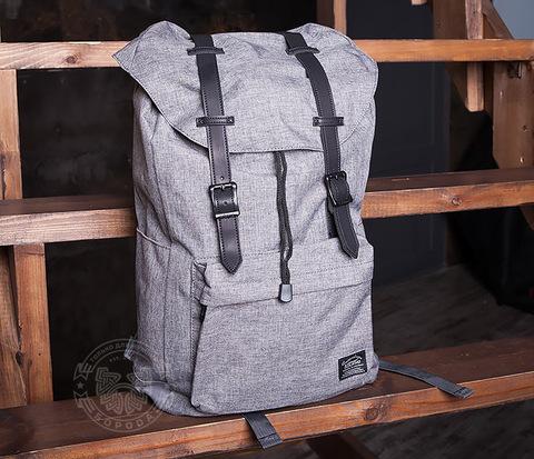Стильный мужской городской рюкзак из ткани серого цвета
