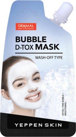 DERMAL Маска для лица ОЧИЩАЮЩАЯ YEPPEN SKIN BUBBLE D-TOX MASK 20гр