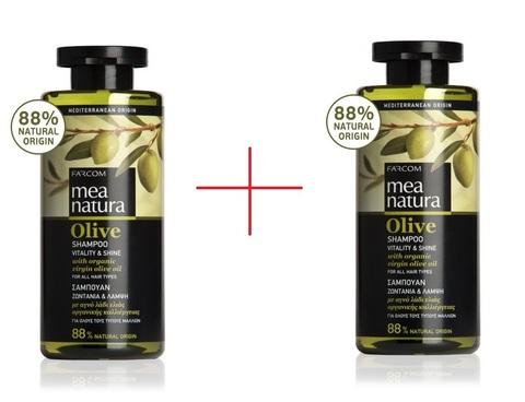 Два шампуня MEA NATURA для всех типов волос 300 мл
