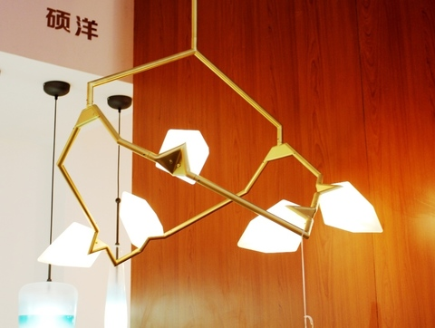 replica Seed chandelier by BB  for Roll & Hill ( gold )