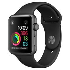 Умные часы Apple Watch 42мм из алюминия цвета «серый космос», спортивный ремешок MP062 - серия 2